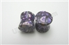 PAIR of Organic Purple Crazy Agate Stone Plugs