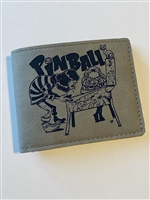 PINBALL DAZE Limited Edition Men's Bi-Fold Wallet, Artwork by Johnny Crap