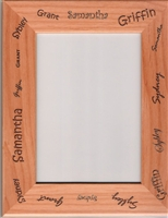 Personalized 4 x 6 Genuine Red Alder Picture Frame