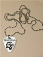 Engraved Personalized Guitar Pick Necklace