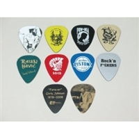 One (1) Brand New Custom Personalized Engraved Guitar Pick from Enhanced Acrylic Plastic