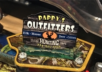 Pappy's Outfitters Sign MOD for Stern's Big Buck Hunter Pro pinball machine