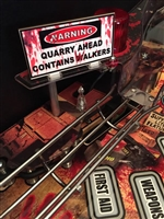 Warning Sign MOD for Stern's The Walking Dead pinball machine