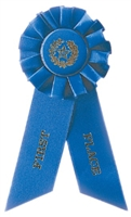 Blue 1st Place Rosette Ribbon