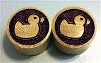 "Pair of ""Rubber Ducky"" Organic Plugs"