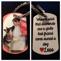 Personalized Dog Tag (Necklace/Keychain- YOUR choice)