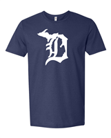 """Michigan in the D"" designed T-Shirt"