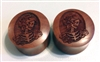 "Pair of ""Skeleton Goddess"" Organic Plugs"