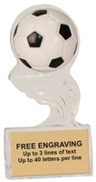 5 inch Clear Soccer Splash Sculpted Ice Award