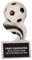 5 inch Black Soccer Splash Sculpted Ice Award
