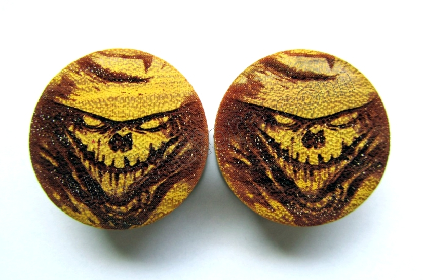 Pair Of Scarecrow Organic Plugs