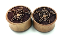 Pair of Sea Turtle Organic Solid Plugs