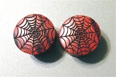"Pair of ""Spider Web"" Organic Plugs"