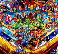 Stars and Stripes Flipper Bat Topper MODs for Avengers: Infinity Quest pinball machine (Set of 3)