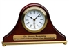 7 1/2 x 4 1/2 Rosewood Piano Finish Mantel Desk Clock