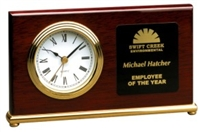 7 1/2 x 4 Rosewood Piano Finish Horizontal Desk Clock