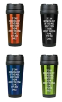 Too Early 16 oz. Travel Mug