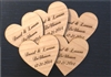 Personalized Wedding Heart Favors - Set of 50
