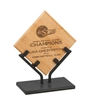7 3/4 inch Bamboo Plaque with Iron Stand
