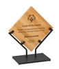 10 1/2 inch Bamboo Plaque with Iron Stand