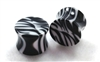 Pair of Zebra Striped Acrylic Plugs