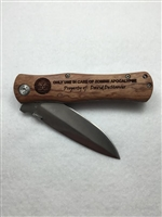 Zombie Apocalypse Personalized Knife