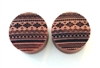"Pair of ""Aztec"" Organic Plugs"