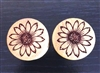 "Pair of ""SunFlower"" Organic Plugs"