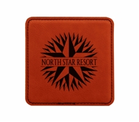 "Personalized Leatherette Square Coaster 4"" x 4"""