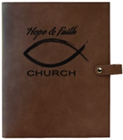 "Personalized Book and Bible Cover with Snap Closure 8.75"" x 11"""