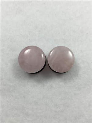Single Flare Saddle Pink Jade Stone Plugs (with O-Ring)