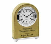 Personalized Leatherette Desk Clock