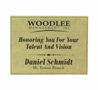 "Personalized Leatherette Plaque 10.5"" x 13"""