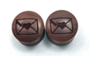 "Pair of ""Love Letter"" Organic Plugs"