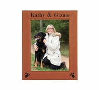 "Personalized Leatherette Photo Frame 8"" x 10"""