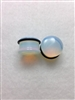 Single Flare Saddle Opal Semi-Precious Stone Plugs (with O-Ring)