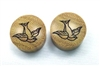 "Pair of ""Swallow"" Organic Plugs"