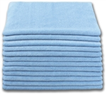 Microfiber Cloth - Terry 12 x 12 230gsm - Blue Bulk Case of 300