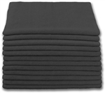 Microfiber Cloth - Terry 12 x 12 200gsm - Black Bulk Case of 480