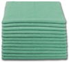 Microfiber Cloth - Terry 12 x 12 230gsm - Green Bulk Case of 300