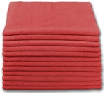 Microfiber Cloth - Terry 12 x 12 230gsm - Red Bulk Case of 300