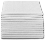 Microfiber Cloth - Terry 12 x 12 200gsm - White Bulk Case of 480