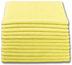 Microfiber Cloth - Terry 12 x 12 200gsm - Yellow Bulk Case of 480
