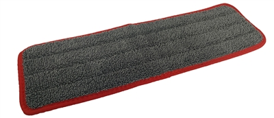 "<!b><strong>BULK 100/Cs </strong>True 18"" Microfiber Finish Pad, Gray with Red Binding"