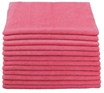 Microfiber Cloth - Terry 16 x 16 300gsm - Burgundy Bulk Case of 204