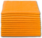 Microfiber Cloth - Terry 16 x 16 300gsm - Orange Bulk Case of 204
