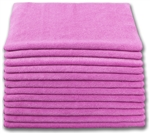 Microfiber Cloth - Terry 16 x 16 300gsm - Pink Bulk Case of 204