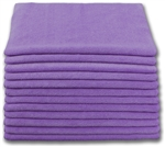 Microfiber Cloth - Terry 16 x 16 300gsm - Purple Bulk Case of 204