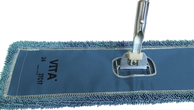 Microfiber Dust Mop - Industrial Closed Loop - Blue 24 Inch - Case of 24
