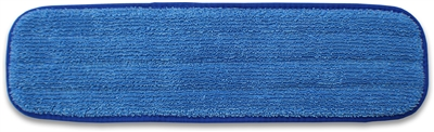 Microfiber Mop Pad - Healthcare Antimicrobial - 24 Inch Blue Binding - Bulk Case